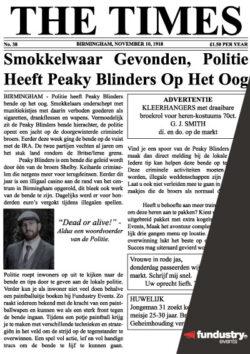 Peaky Blinders Krantenartikel